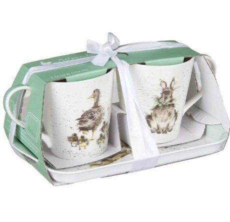 Royal Worcester WRENDALE Mug & Tray Set Hase Küken Ostern La Cassetta 2