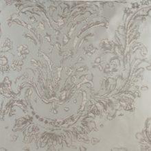 Meterstoff PLAZA silber grau Ranken Ornamente elegant Steen Design La Cassetta