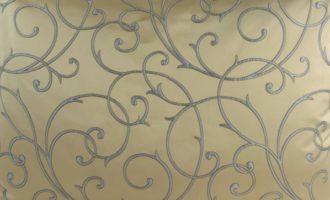 Meterstoff SCALA gold Ranken Stoff per Meter Steen Design La Cassetta