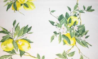 Meterstoff LIMONES mediterran Zitronen Steen Design La Cassetta