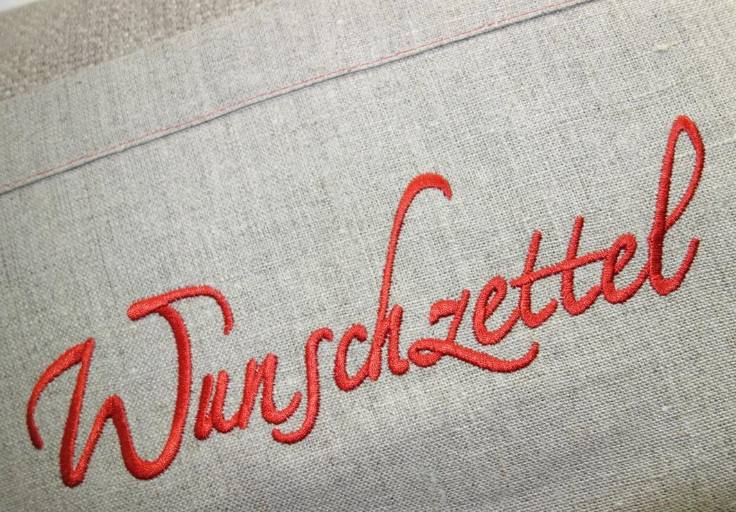 Kissenhülle 40x60cm BRUCE mit Leinen Stick WUNSCHZETTEL Steen Design La Cassetta Online Shop
