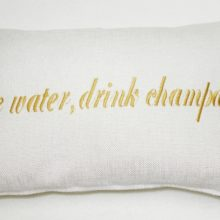 Kissenhülle 40x25cm Stick Save water drink champagne STEEN DESIGN La Cassetta