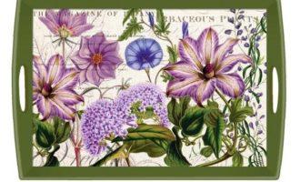 Tablett Michel Design Works groß RHAPSODY Blumen violett grün La Cassetta Wien