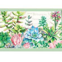 Tablett Michel Design Works klein PINK CACTUS Sukkulenten Kaktus mint pink grün La Cassetta Wien
