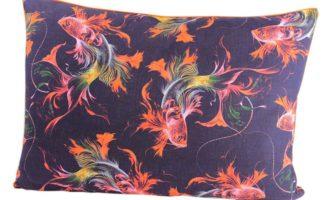 Kissenhülle 50x70cm KOI mit Biese orange STEEN DESIGN Kissen maritim online kaufen La Cassetta