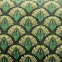 Meterstoff ADELE Steen Design Pfauenauge grün blau La Cassetta