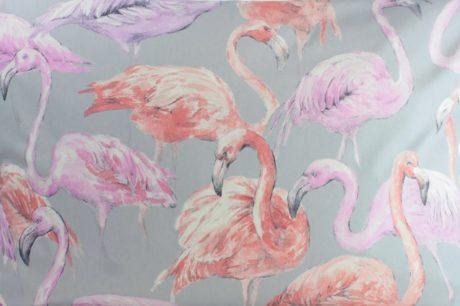 Meterstoff FLAMINGO grau Steen Design online kaufen La Cassetta