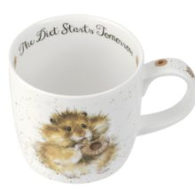 Royal Worcester WRENDALE Mug Hamster diet starts tomorrow La Cassetta