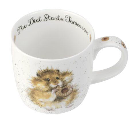 Royal Worcester WRENDALE Mug Hamster diet starts tomorrow La Cassetta