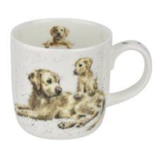 Royal Worcester WRENDALE Mug Labrador Devotion Hunde La Cassetta