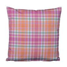 Kissenhülle 50x50cm CALA Karo pink orange grün LAZIS online kaufen La Cassetta