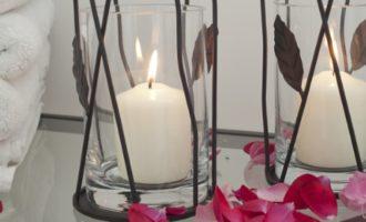 Eisen Windlicht JOSIANE mit Blättern Varia Living online kaufen La Cassetta