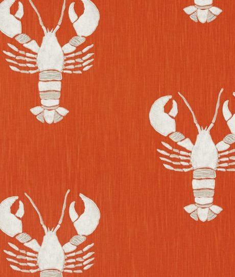 SANDERSON UK Cromer rust 2 Hummer lobster orange maritime Stoffe online kaufen La Cassetta