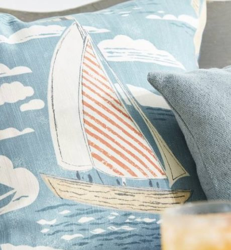 SANDERSON UK SAILOR pacific 3 Meterstoff Dekostoff maritim Boote Segeln La Cassetta