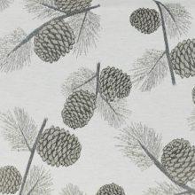 Meterstoff PINE creme STEEN DESIGN Wald Zapfen Herbst Winter La Cassetta online kaufen