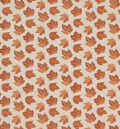 SANDERSON UK FLANNERY russet 1 Meterstoff Herbst Ahorn Blätter orange rost La Cassetta online kaufen