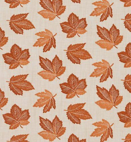 SANDERSON UK FLANNERY russet 2 Meterstoff Herbst Ahorn Blätter orange rost La Cassetta online kaufen