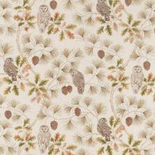 SANDERSON UK OWLSWICK briarwood 1 Meterstoff Herbst Eule Wald La Cassetta online kaufen
