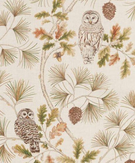 SANDERSON UK OWLSWICK briarwood 2 Meterstoff Herbst Eule Wald La Cassetta online kaufen