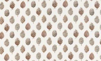 SANDERSON UK PINE CONES briarwood cream 1 Meterstoff Tannenzapfen Pinienzapfen Herbst Natur La Cassetta online kaufen