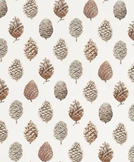 SANDERSON UK PINE CONES briarwood cream 2 Meterstoff Tannenzapfen Pinienzapfen Herbst Natur La Cassetta online kaufen