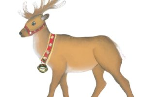 Holzdeko Aufsteller Rentier mit Glöckchen Winter Weihnachten Landhausstil Land Art Kunsthandwerk online kaufen La Cassetta