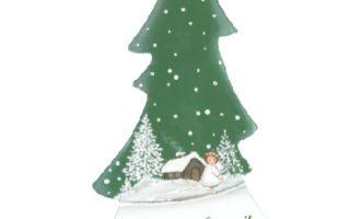 Holzdeko Aufsteller Tannenbaum Engel Schöne Winterzeit Land Art Kunsthandwerk online kaufen La Cassetta