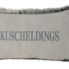 Kissen 40x25cm ANDREA hell FELL grau Stick Kuscheldings STEEN DESIGN online kaufen bei La Cassetta